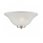 60W Ballerina Wall Sconce Light, Frosted Glass, Brushed Nickel