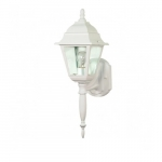 "18"" Briton Outdoor Wall Lantern Light, Clear Glass, White"