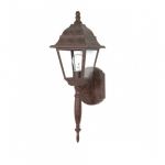 "18"" Briton Outdoor Wall Lantern Light, Clear Glass, Old Bronze"