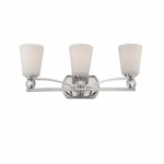 Connie Vanity Fixture Light, Satin White Glass