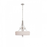 Connie Pendant Light, Satin White Glass
