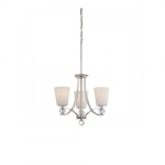 Connie Chandelier Light, Satin White Glass