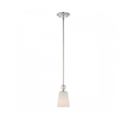 Connie Mini Light Pendant, Satin White Glass