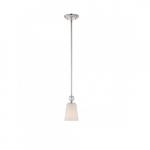 Connie Mini Light Pendant, Satin White Glass