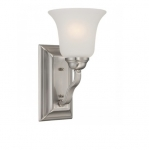 60W Elizabeth Vanity Light Fixture, 1-Light, Brushed Nickel