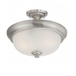 60W Elizabeth Semi-Flush Light, 2-Light, Brushed Nickel