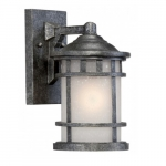 """Manor 6.5"""" Outdoor Wall Light Fixture, Frosted Seed Glass"""