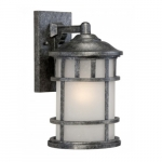 """Manor 8"""" Outdoor Wall Light Fixture, Frosted Seed Glass"""