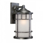 """Manor 10"""" Outdoor Wall Light Fixture, Frosted Seed Glass"""