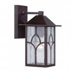 """Stanton 6"""" Outdoor Wall Light Fixture, Clear Seed Glass"""
