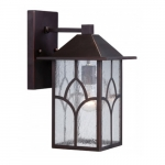 """Stanton 8"""" Outdoor Wall Light Fixture, Clear Seed Glass"""