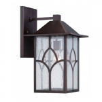 """Stanton 10"""" Outdoor Wall Light Fixture, Clear Seed Glass"""