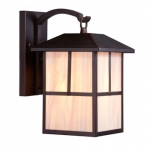 """Tanner 8"""" Outdoor Wall Light Fixture, Honey Stained Glass"""