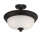 60W Elizabeth Semi-Flush Light, 2-Light, Sudbury Bronze