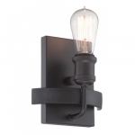 100W Wall Sconce Paxton Light Fixture, Aged Bronze