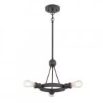 300W 3-Light Paxton Pendant Light Fixture, Aged Bronze