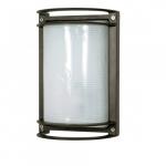 10in Bulk Head Light w/ GU24 Bulb, Rectangle, Architectural Bronze