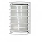 10in Bulk Head Light w/ GU24 Bulb, Rectangle Cage, White