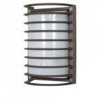 10in Bulk Head Light w/ GU24 Bulb, Rectangle Cage, Architectural Bronze