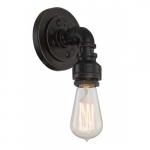 Iron Vanity Light Fixture, Industrial Bronze
