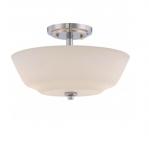 60W Willow Semi-Flush Light, 2-Light, Polished Nickel