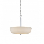 240W Willow Pendant Light, 4-Light, Polished Nickel