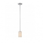 100W Willow Mini Pendant Light, 1-Light, Polished Nickel
