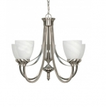 60W 24 in. Triumph Chandelier, Alabaster Glass, Brushed Nickel
