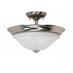 60W 15.5 in. Triumph Semi-Flush, Alabaster Glass, Brushed Nickel