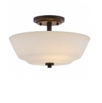 60W Willow Semi-Flush Light, 2-Light, Forest Bronze