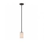 100W Willow Mini Pendant Light, 1-Light, Forest Bronze
