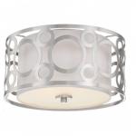 Filigree LED Flush Mount Light, Brushed Nickel Finish