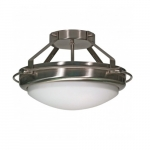 "Polaris 14""  Semi-Flush Light, Frosted Glass Shades"