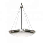 """Polaris 23"""" Pendant Light, Frosted Glass Shades"""
