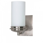 "Polaris 5""  Vanity Light, Satin Frosted Glass Shade"