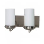 "Polaris 14""  Vanity Light, Frosted Glass Shades"