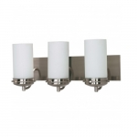 "Polaris 21"" Vanity Light, Frosted Glass Shades"