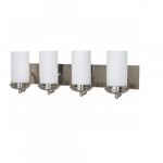 "Polaris 30""  Vanity Light, Frosted Glass Shades"