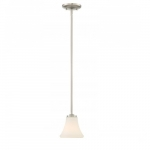 Fawn Mini Pendant Light Fixture, Brushed Nickel Finish