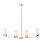 4-Light Island Pendant Fixture, Polished Nickel