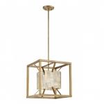 Stanza Medium Pendant Light Fixture, Antique Gold Finish