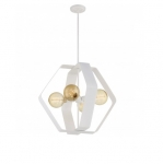 60W Zen Pendant Light, 4-Light, White