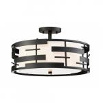 Lansing Semi-Flush Mount Light Fixture, Textured Black