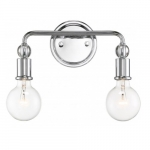 Bounce 2-Light Vanity Light Fixture, Polished Nickel w/ K9 Crystal