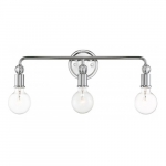 Bounce 3-Light Vanity Light Fixture, Polished Nickel w/ K9 Crystal