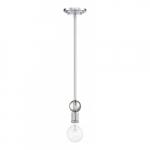 Bounce Mini Pendant Light Fixture, Polished Nickel w/ K9 Crystal