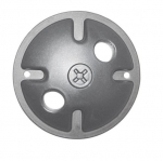 4.5in. Mounting Plate for Outside Light, 1-Light, Gray