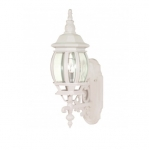 100W 20 in. Central Park Wall Lantern, Clear Beveled Panels, White
