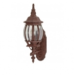 100W 20 in. Central Park Wall Lantern, Clear Beveled Panels, Old Bronze
