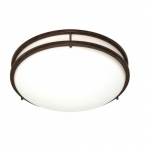"17"" Glamour Flush Mount Light, 18 watts"